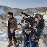 北海道冬ロケでの一枚